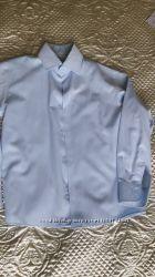 Рубашка для школы светло-голубая. Рост 134 ворот  32. Bebepa