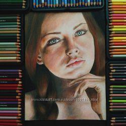 Портрет по фото цветными карандашами. Отличный подарок на любой праздник