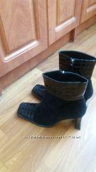 Демисезонные замшевые ботинки ботильены 37-37, 5 размер Carlo pazolini