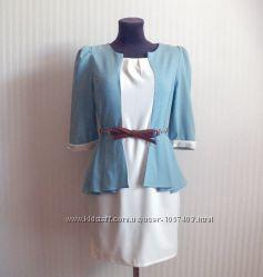 Интересное платье с удлиненной спинкой. Стильное платье 44-46р.