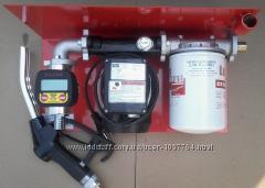 Насос, мини-заправка 220 Вольт 70лмин для перекачки дизтоплива, Италия