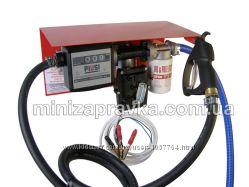 Мини АЗС 12В 50лмин для перекачки бензина с насосом ЕХ50 12V, с мех. счетчик