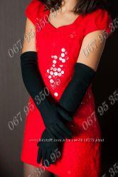 Длинные кашемировые перчатки с мехом внутри 4 модели