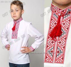 Вышиванка крестиком для мальчика 3-12 лет - 2 цвета
