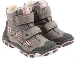 Cool Club зимние термо ботинки на липучке для девочки Польша