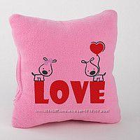 Подушка с вышивкой Love