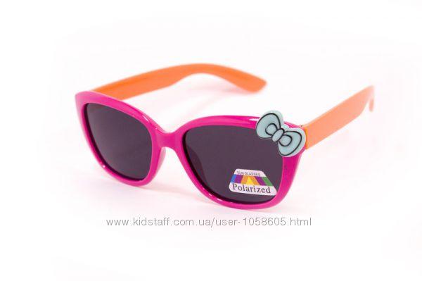 Детские солнцезащитные очки для девочек  с защитной пленкой polarized
