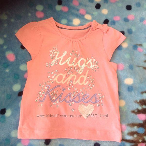 Новая футболка mothercare 9-12 месяцев