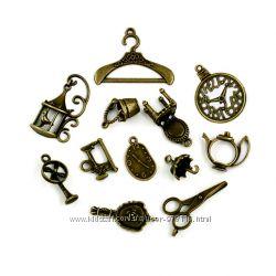 Подвески металлические, шармы для браслетов