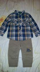 Детская рубашка и штаны United Colors Of Benetton.