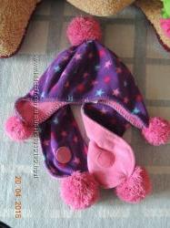 шапка  шарф со звездочками