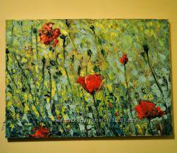 Картина Маки цветы квіти 5070