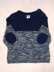 Модный вязаный свитер Old Nave, 6-12м, как новый