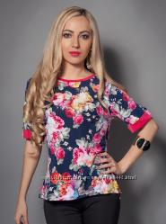 3a99122c385 Женская блуза с цветами