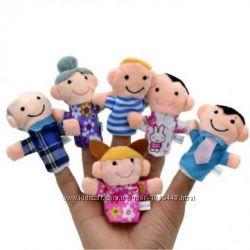 Кукольный театр семья, пальчиковый театр, развивающая игрушка на пальцы