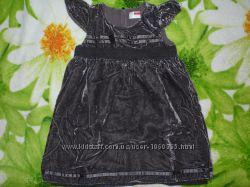 Платье нарядное из бархата. name it. 2-3 года.