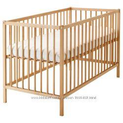 Ikea Икеа Сниглар Кроватка детская, бук