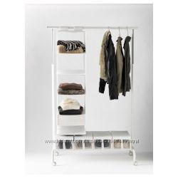 Ikea Икеа РИГГА Напольная вешалка, белый