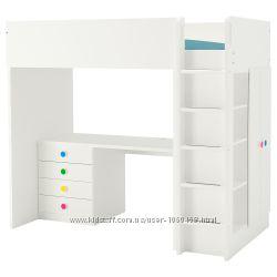 Ikea Икеа Стува Кровать-чердак, 3 ящика, 2 дверцы. Разные цвета, см. фото
