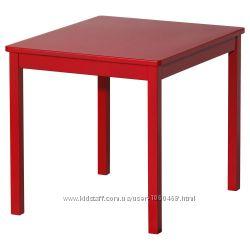 Ikea Икеа Криттер Стол детский. Белый, красный