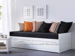 Ikea Икеа БРИМНЭС Кушетка с 2 матрасами2 ящиками