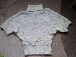 ажурная вязанная кофта, свитер