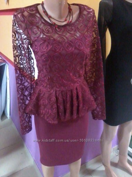 Платье цвет бордо, марсала, вишневый распродажа, рр 46 и 48