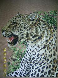 Продам вишиту картину Ягуар