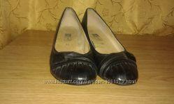 Женские туфли кожаные черные