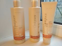 Набор средств против выпадения волос от Avon шампунь, бальзам, сыворотка