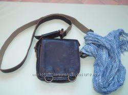 Маленькая кожаная сумка через плечо Aunts & Uncles vintage brown
