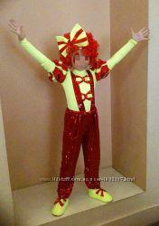 Карнавальный костюм для утренника клоун, веселый человечек