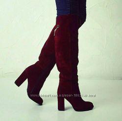 Ботфорты на каблуке 3 цвета