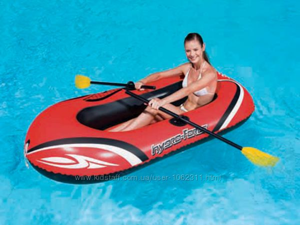 Надувная лодка с веслами и насосом 61062
