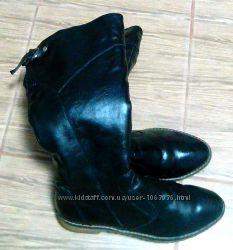 Продам женские кожаные зимние сапоги