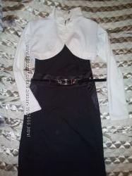 трикотажное платье с болеро