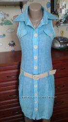 Яркий хлопковый сарафан-платье-халат 40р46-48