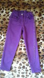 Bogi фиолетовые джинсы-брюки девочке 4-5лет. 116см