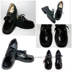 Кожаные демисезонные туфли для девочки и мальчика, красивые, аккуратные