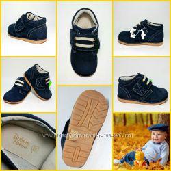 Кожаные, Замшевые ботинки кроссовки для мальчика и девочки, стильные, деми