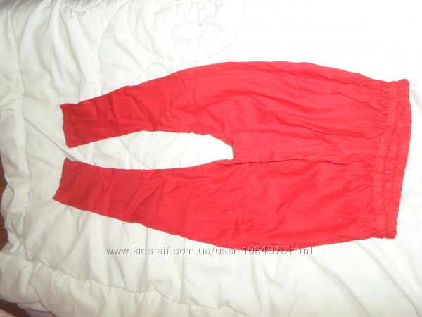 Летние красные штанишки для девочки