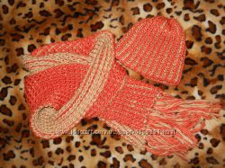 Осенне-зимний комплект шапкашарф