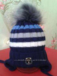Зимняя шапка. 1-3 года.