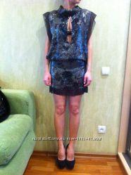 Туника-платье в паетках итальянская