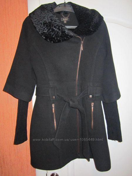 Кашемировое утепленное пальто