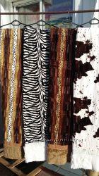 пледы , покрывала коровка , зебра , норка