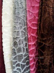Меховые покрывала Плед-покрывало Камушки двухстороннее 7 цветов