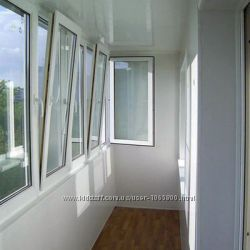 Ремонт и утепление лоджии, ремонт и Утепление Балкона, Обшивка, КИЕВ