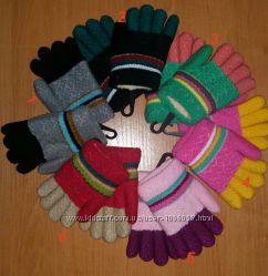 Перчатки вязаные, махровые, очень теплые