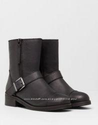Ботинки кожаный Pull&Bear 39 р.